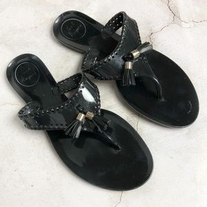 Jack Rogers Black Jelly Sandals